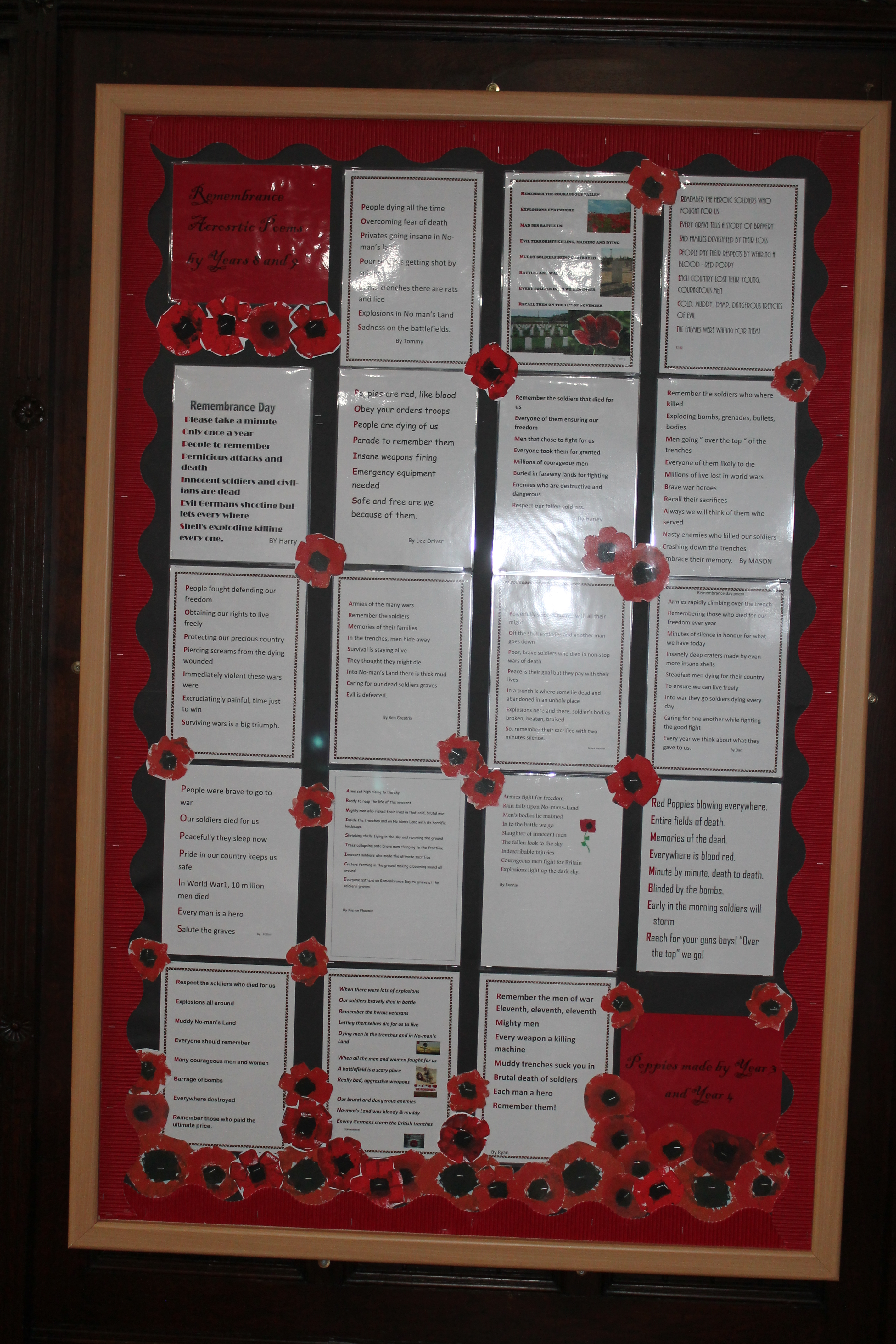 remembrance day poems - Bramfield House